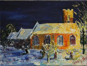 caerleon church in snow_s